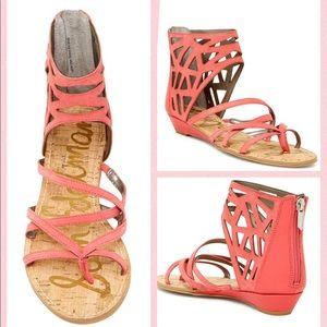 Sam Edelman coral sandals